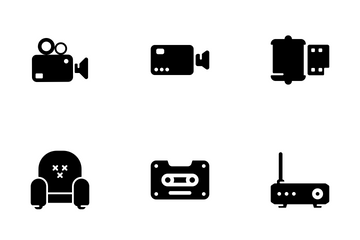 Cinema And Multimedia Icon Pack