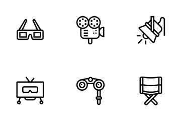 Cinema, Film, Video, Tv Icon Pack