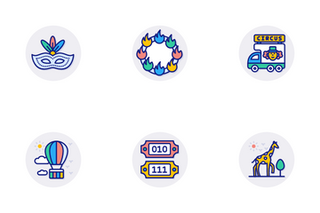 Circus Elements Icon Pack
