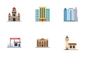 City Buildings Icon Pack