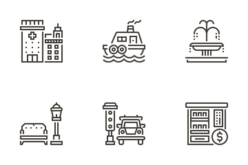 City Element Icon Pack