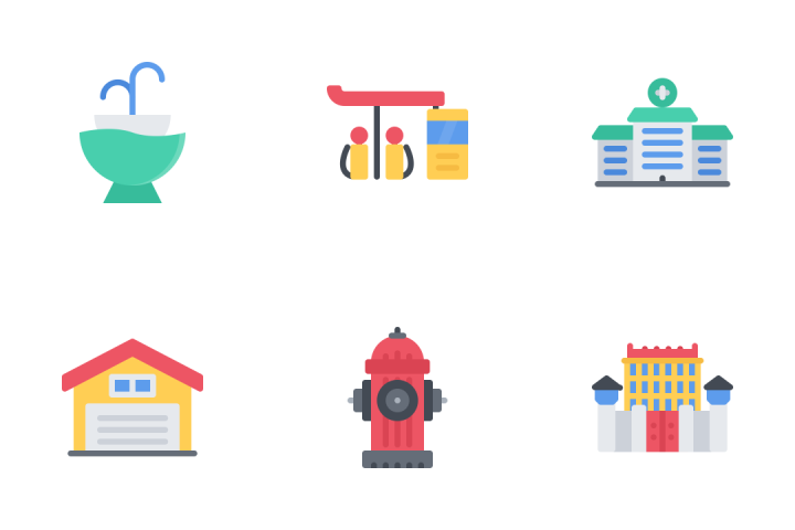 City Flat Icon Pack
