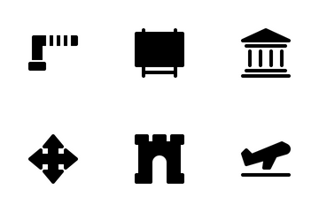City Icon Set Glyph Icon Pack