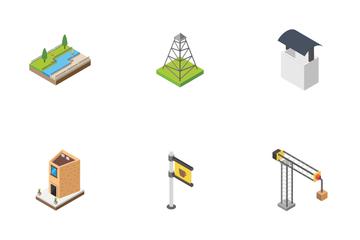 City Life Cityscape Design Elements Icon Pack