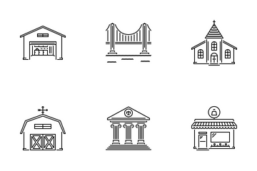 City Outline Icon Pack