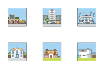 City Square Color Icon Pack