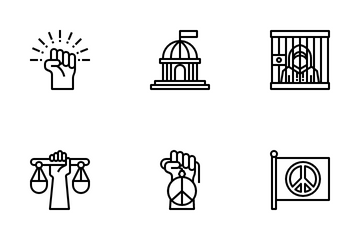 Civil Rights Movement Icon Pack