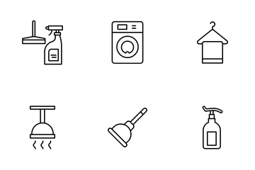 Cleaning Equipment Icon Pack