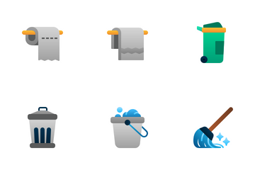 Cleaning (Flat Gradient) Icon Pack