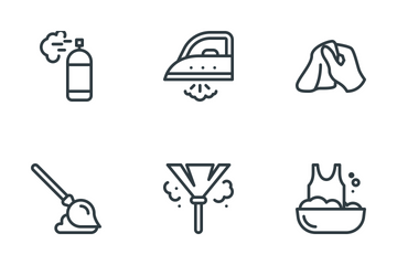 Cleaning & Housekeeping Icon Pack