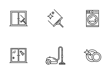 Cleaning Line Icon Pack