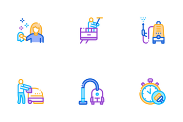 Cleaning Service Tool Icon Pack