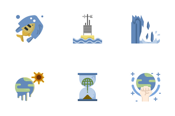Climate Change And Global Warming. Icon Pack