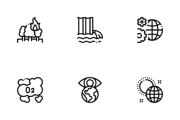 Climate Change Ecology Icon Pack