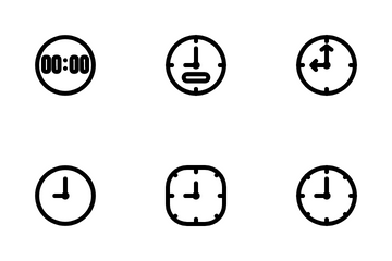 Clock Icon Pack