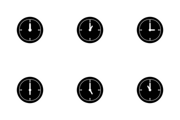 CLOCK Glyph Icon Pack
