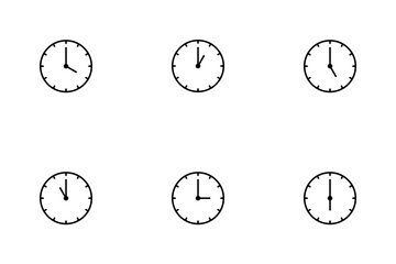 Clocks Line Icon Pack