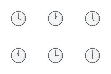 Clocks Line Fill Icon Pack