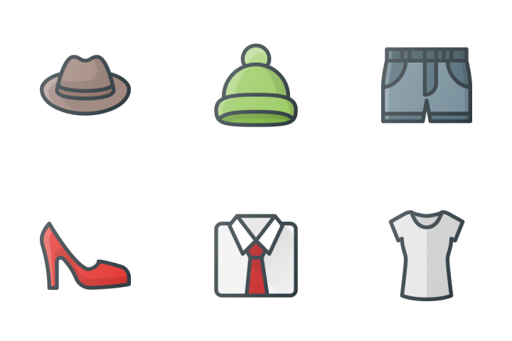 Clothes & Accessories Icon Pack