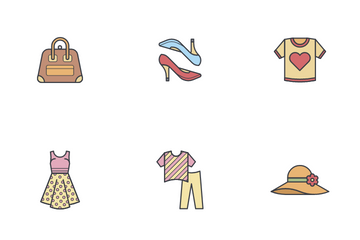 Clothes And Accessories - Woman Icon Pack