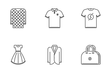 Clothes Outline Icon Pack