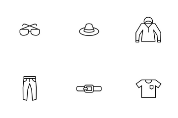 Clothes Thinine Icon Pack