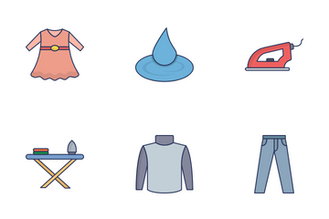 Clothes Washing Icon Pack
