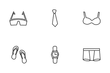Clothing Doodles Icon Pack