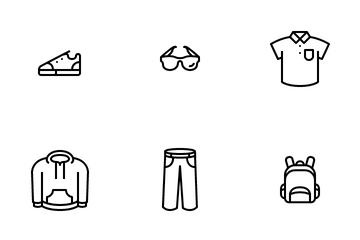 Clothing Male Fashion Icon Pack