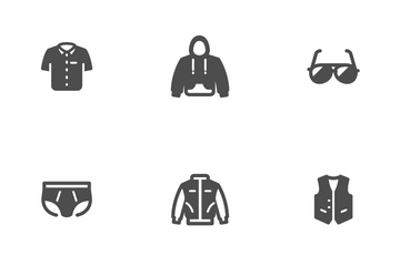 Clothing Man Icon Pack
