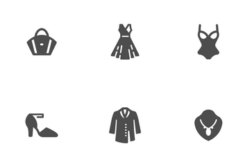 Clothing Woman Icon Pack