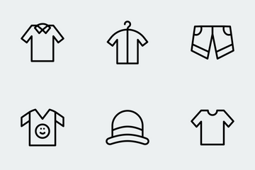 Cloths Line Icons Icon Pack