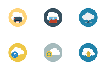 Cloud Computing Flat Icons Icon Pack
