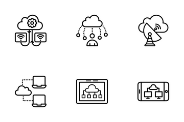 Cloud Computing Icons Collection Icon Pack
