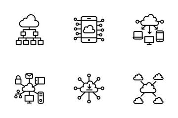 Cloud Computing Line Icons Icon Pack