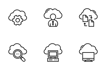 Cloud Data Technology Icon Pack