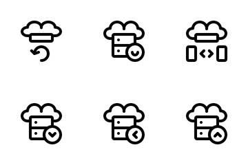 Cloud Hosting Icon Pack