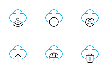 Cloud Interface Icon Pack