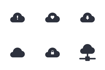 Cloud Network Communications Icons Icon Pack