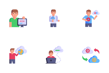 Cloud Processing Services Icon Pack