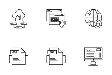 Cloud Server And Technology Icon Pack