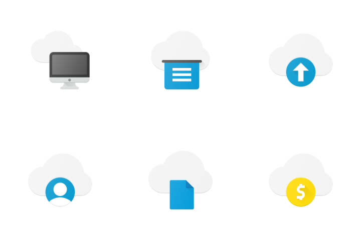 Cloud Storage Icon Pack