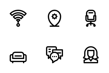 Co Working Space Icon Pack
