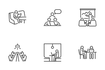 Co-working Space Icon Pack