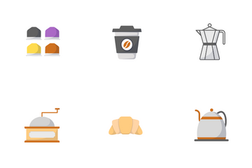 Coffee And Cafe Icon Pack