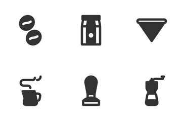 Coffee Cafe (Glyph) Icon Pack