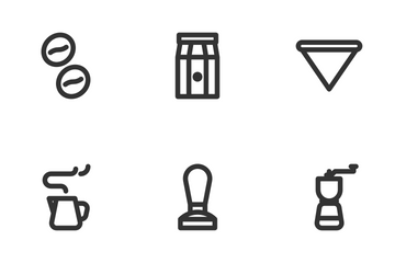 Coffee Cafe (Line) Icon Pack