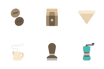 Coffee Cafe (Flat) Icon Pack