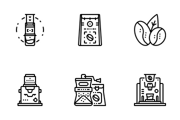 Coffee Element Icon Pack