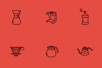 Coffee Equipment Icon Pack